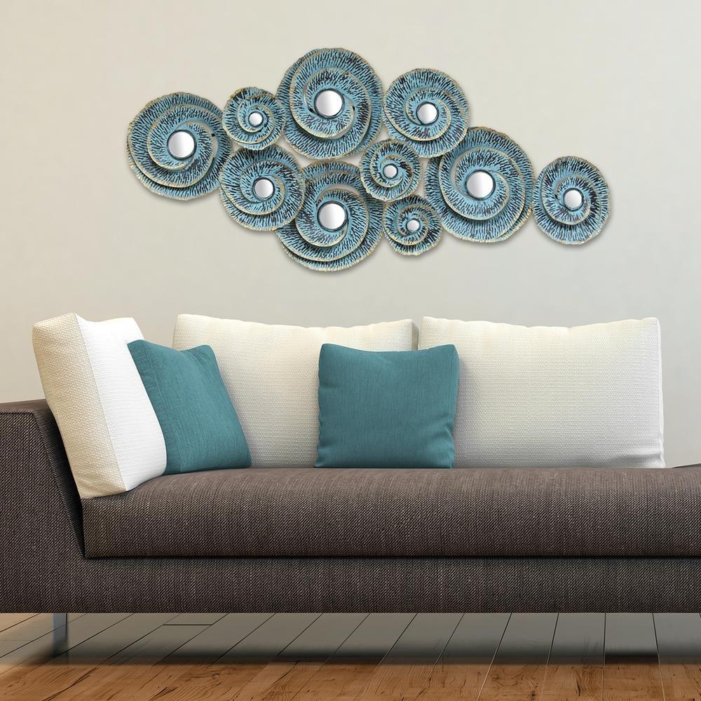 Stratton Home Decor Stratton Home Decor Decorative Waves Metal Wall for Home Decor Wall Art (Image 17 of 20)