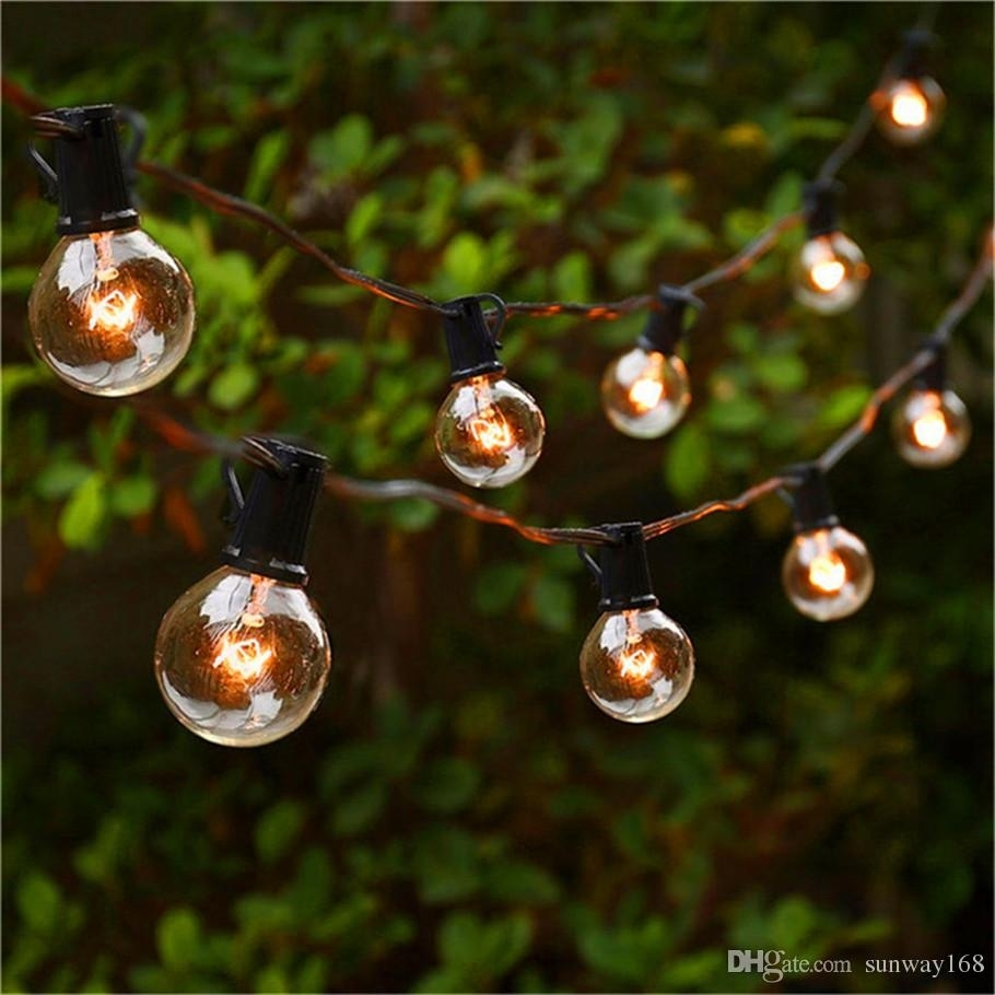 String Lights With 25 G40 Globe Bulbs Ul Listed For Indoor/outdoor throughout Outdoor Lanterns on String (Image 18 of 20)