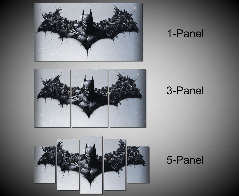 Stunning Framed Batman Dc Comics Super Hero Wall Canvas Art Image Throughout Batman Wall Art (View 5 of 20)