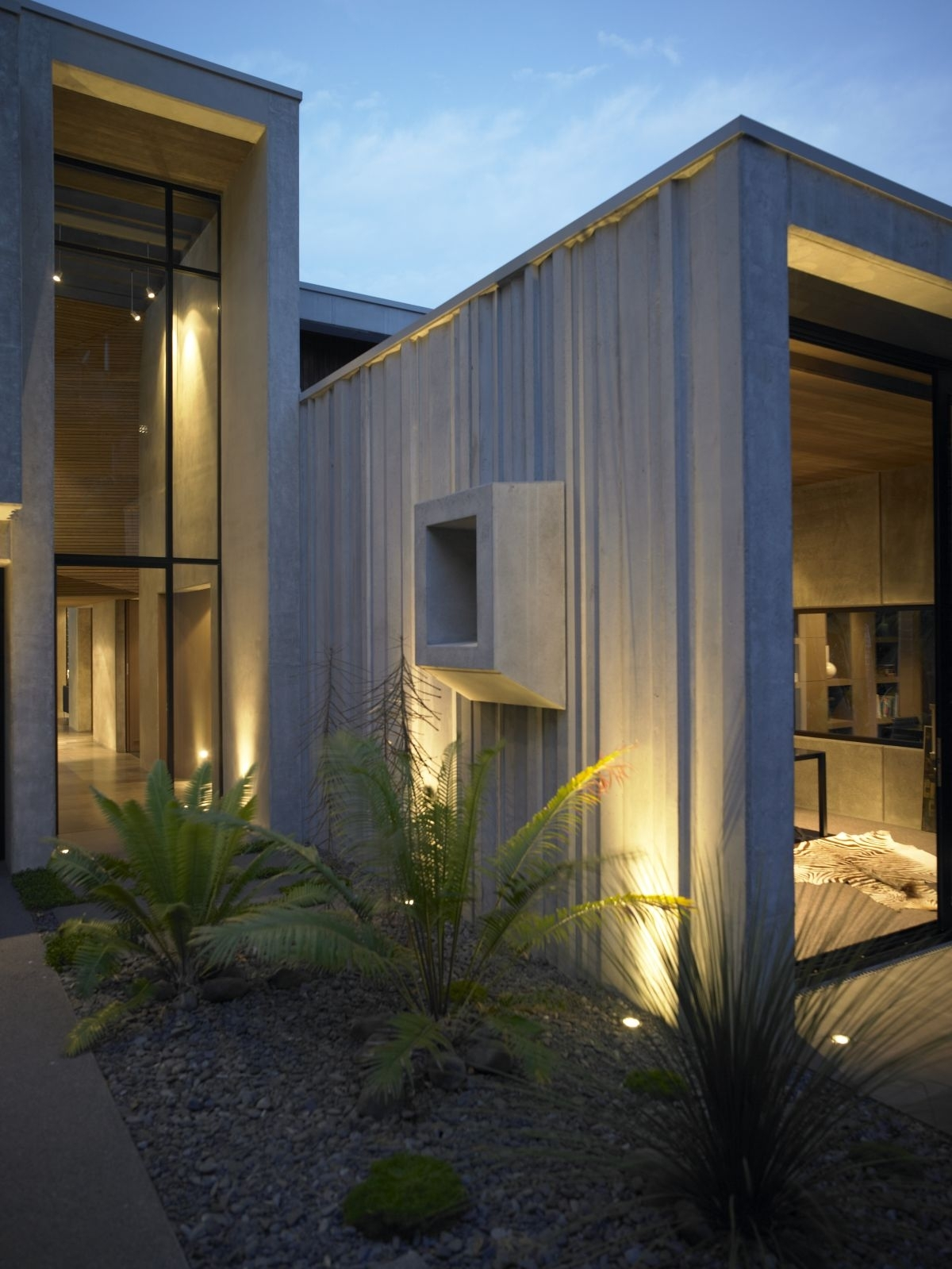Stunning House Exterior With Modern Outdoor Lighting And Clear Glass for Modern Outdoor Lanterns (Image 19 of 20)
