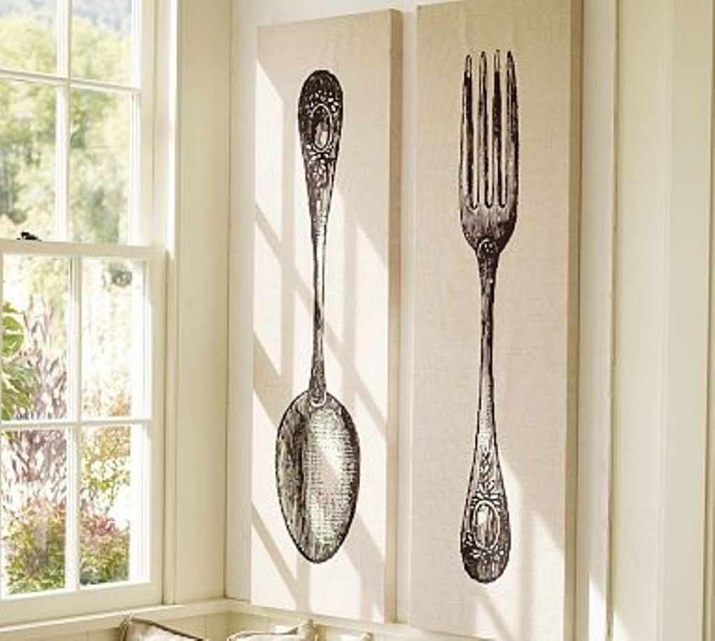 Stunning Oversized Spoon And Fork Wall Decor Target Design Idea Art intended for Target Wall Art (Image 11 of 20)