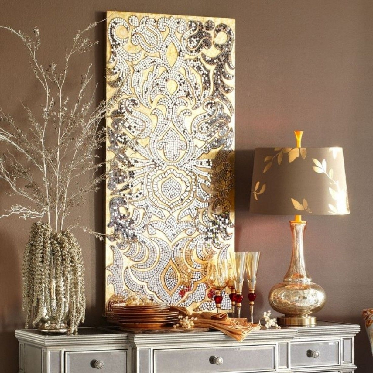 Stunning Pretty Mirror Mosaic Wall Art With Diy Decor Large Tile Intended For Mirror Mosaic Wall Art (View 9 of 20)