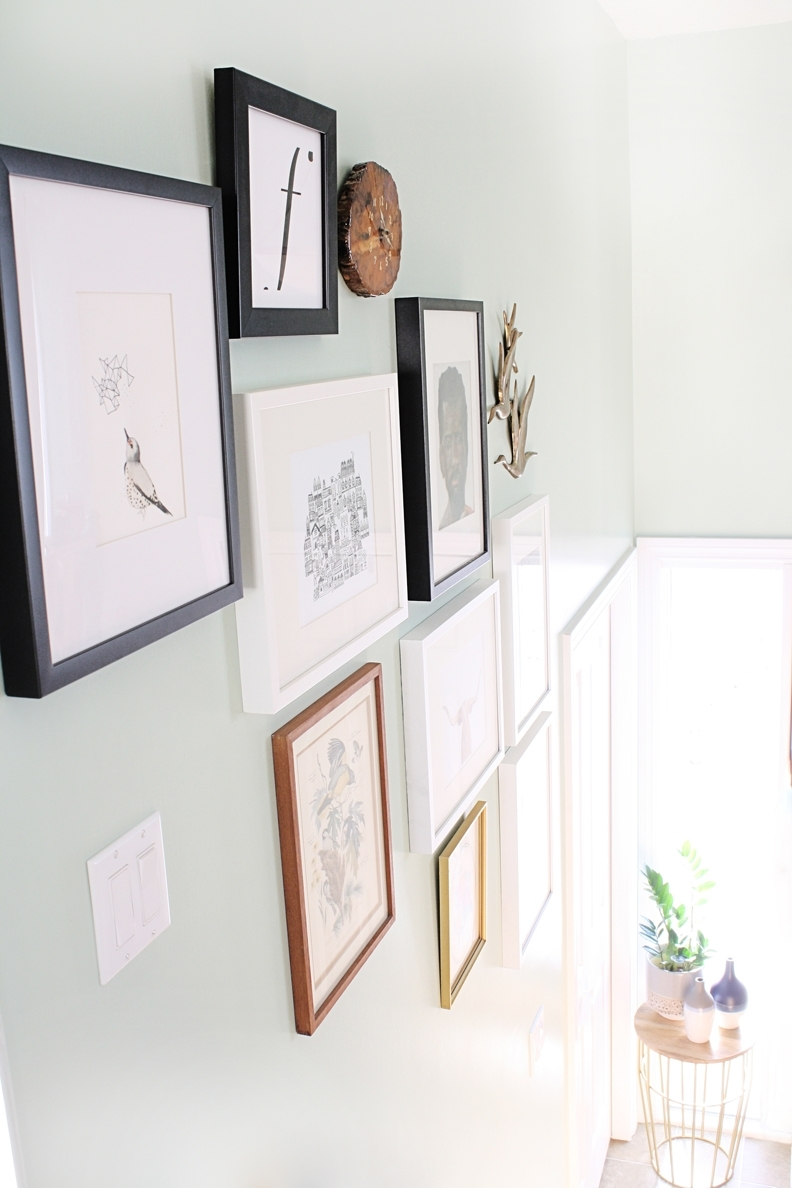 Styling A Gallery Wall | Hello Lidy regarding Artfully Walls (Image 19 of 20)