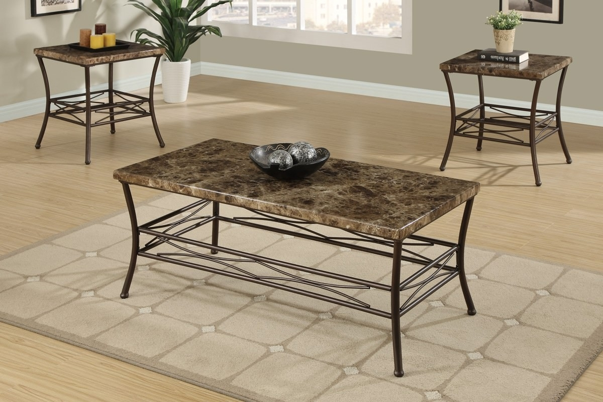 Stylish Faux Marble Coffee Table — Sushi Ichimura Decor in Alcide Rectangular Marble Coffee Tables (Image 19 of 30)
