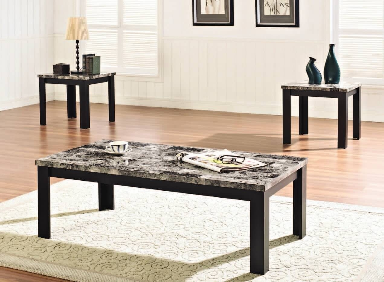 Stylish Faux Marble Coffee Table — Sushi Ichimura Decor intended for Alcide Rectangular Marble Coffee Tables (Image 20 of 30)