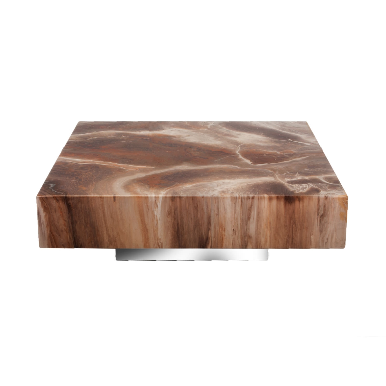 Stylish Faux Marble Coffee Table — Sushi Ichimura Decor pertaining to Alcide Rectangular Marble Coffee Tables (Image 22 of 30)