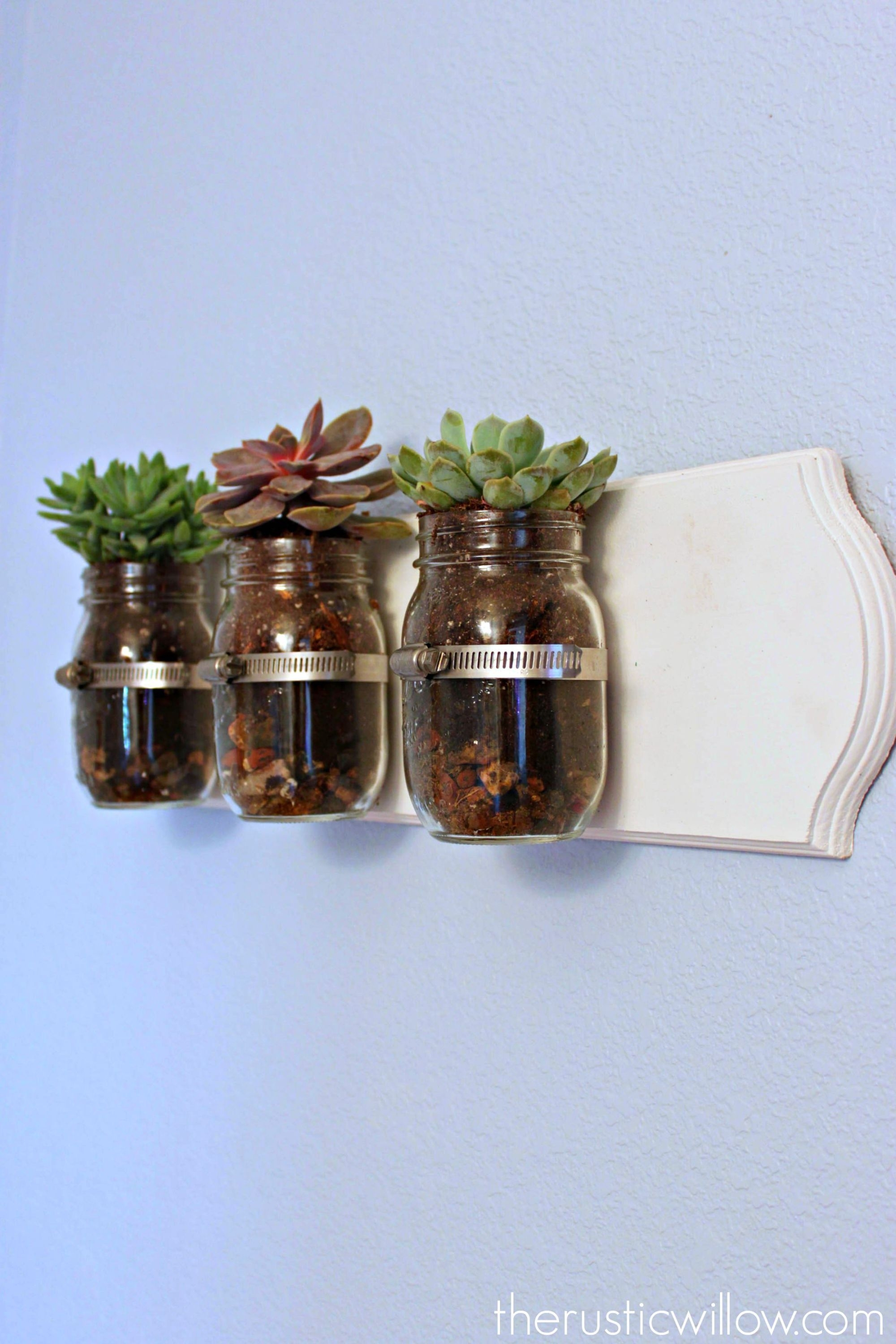 Succulent Mason Jar Wall Art | Garden | Pinterest | Jar, Succulent pertaining to Mason Jar Wall Art (Image 18 of 20)