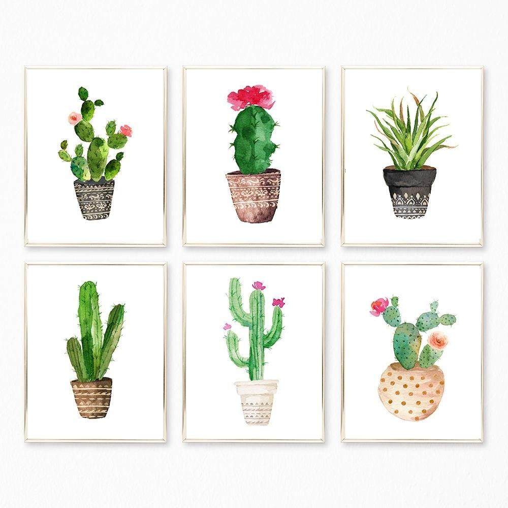 Succulent Prints Succulent Set Succulent Wall Art Cactus | Etsy within Succulent Wall Art (Image 12 of 20)