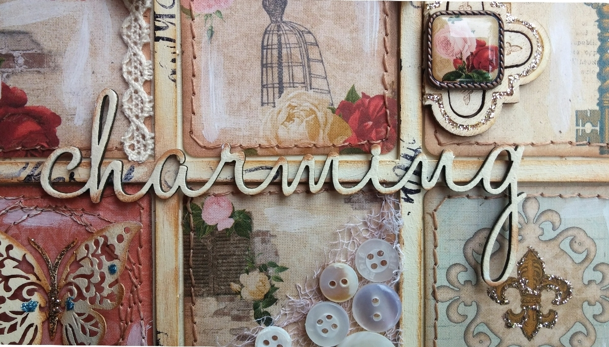 Such A Pretty Mess: Shabby Chic Wall Art {Bo Bunny & Dusty Attic} intended for Shabby Chic Wall Art (Image 19 of 20)
