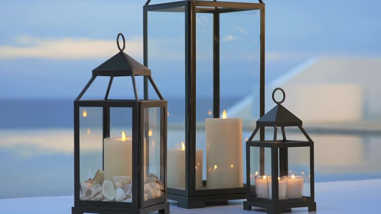 Summer Outdoor Decor With Lanterns | Pottery Barn - Youtube in Blue Outdoor Lanterns (Image 20 of 20)