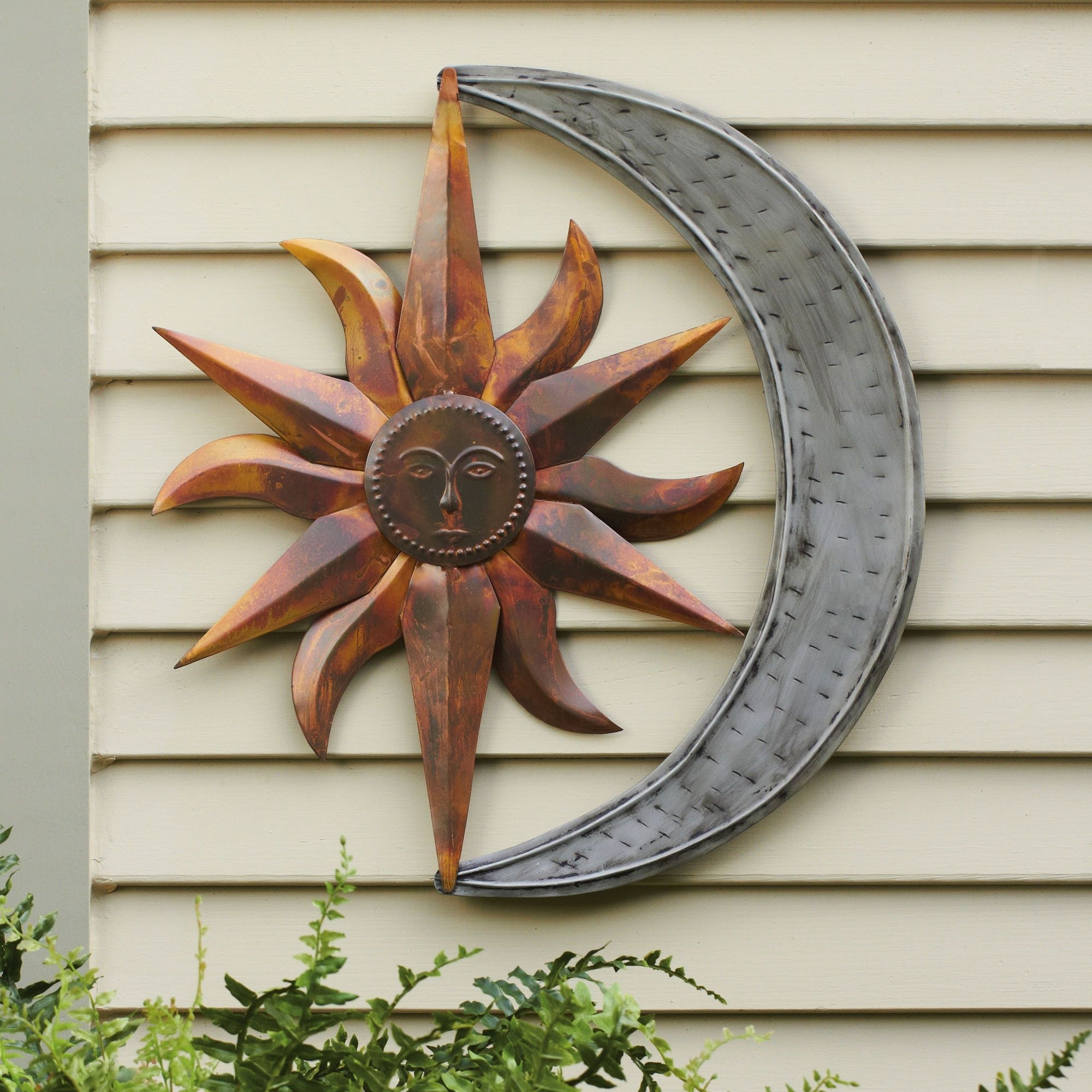 Sun And Moon Indoor Outdoor Metal Wall Art In 2018 | Outdoor Wall within Outside Wall Art (Image 17 of 20)