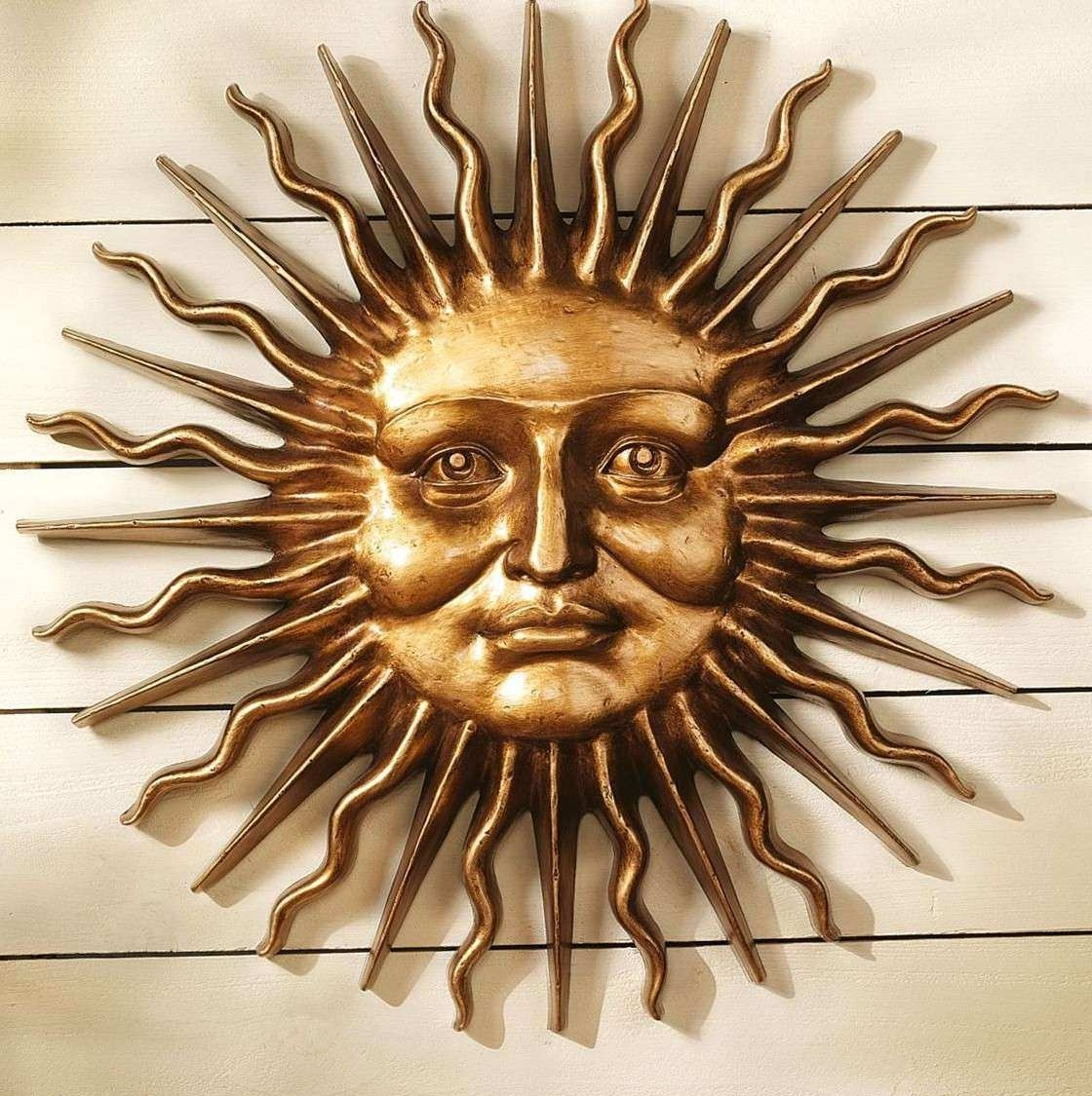 Sun Wall Decor Outdoor Luxury Wall Art Ideas Design Greek Mythology throughout Outdoor Sun Wall Art (Image 16 of 20)