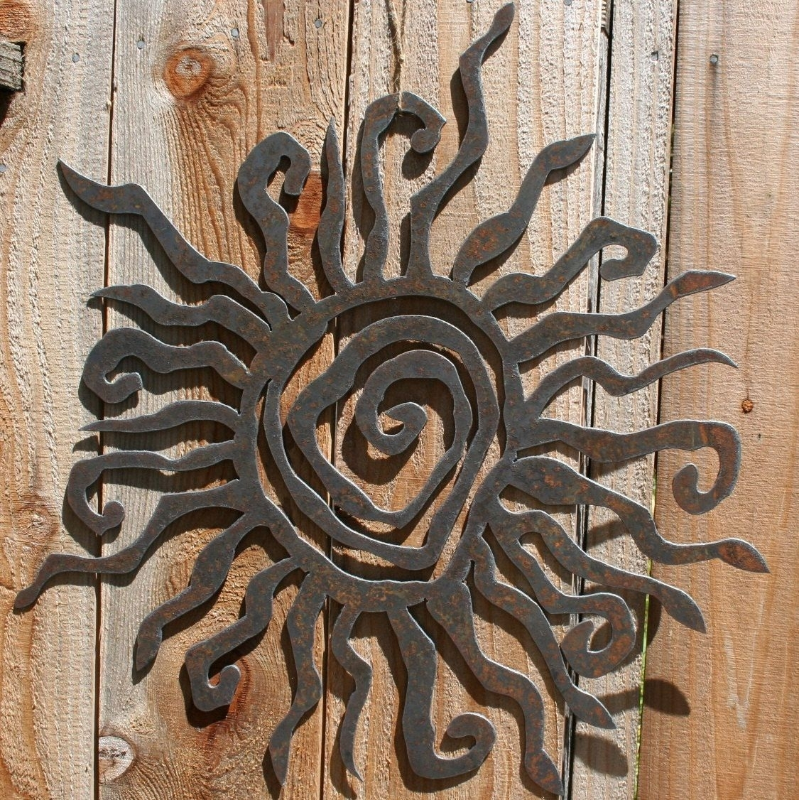 Sun Wall Hanging Outdoor Metal Art Decor Moon Copper - Awesome Home within Outdoor Sun Wall Art (Image 19 of 20)