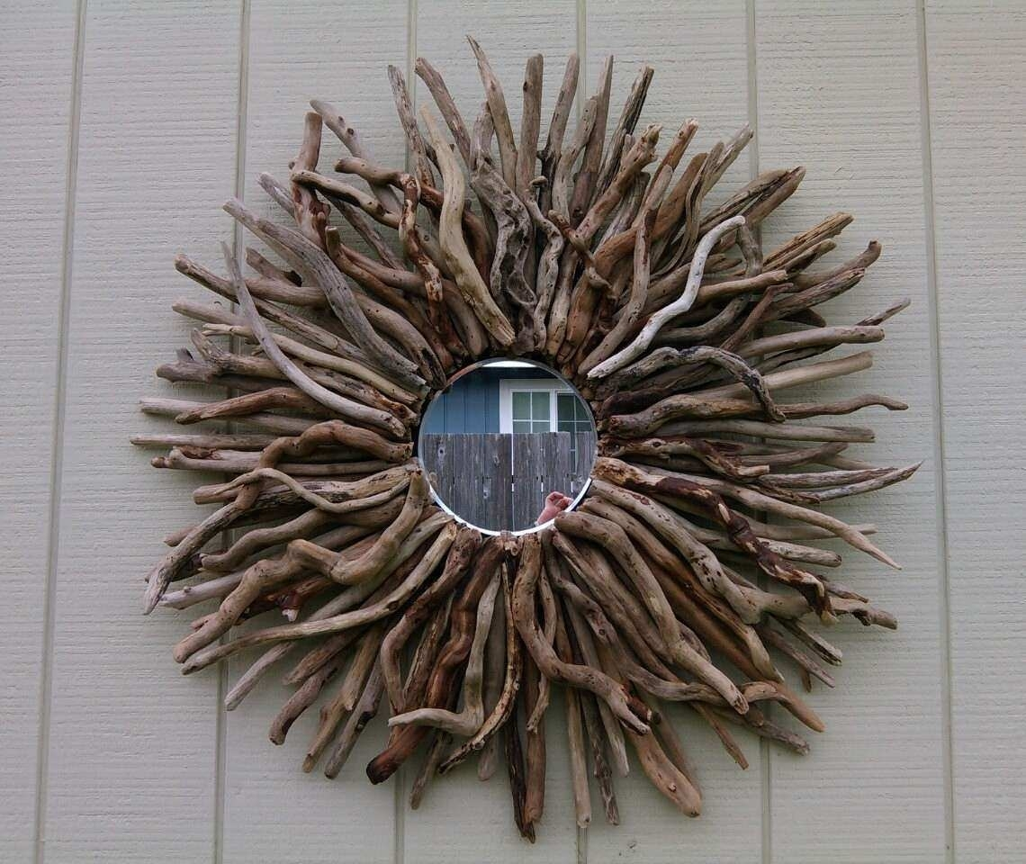 Sunburst Mirror Wall Decor Best Of Round Wall Mirror Driftwood Art In Round Wall Art (View 19 of 20)