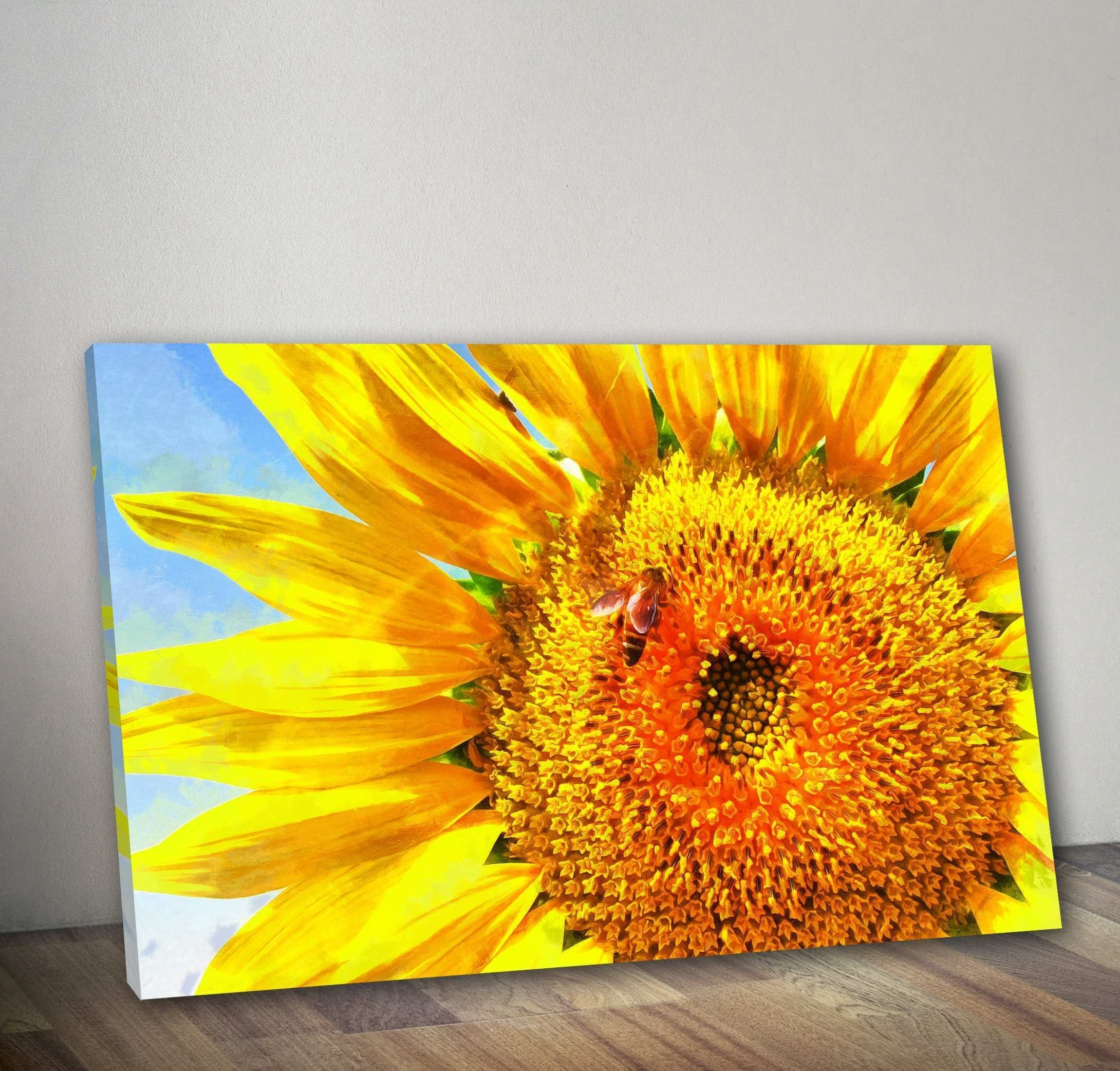 Sunflower Wall Art Beautiful Old Fashioned Diy Metal Wall Decor Wall regarding Sunflower Wall Art (Image 16 of 20)