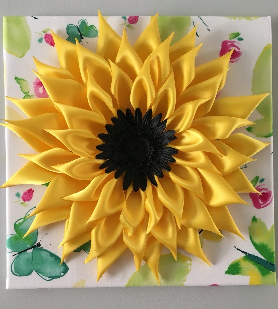 Sunflower Wall Art Superb Sunflower Wall Art - Wall Decoration And intended for Sunflower Wall Art (Image 17 of 20)