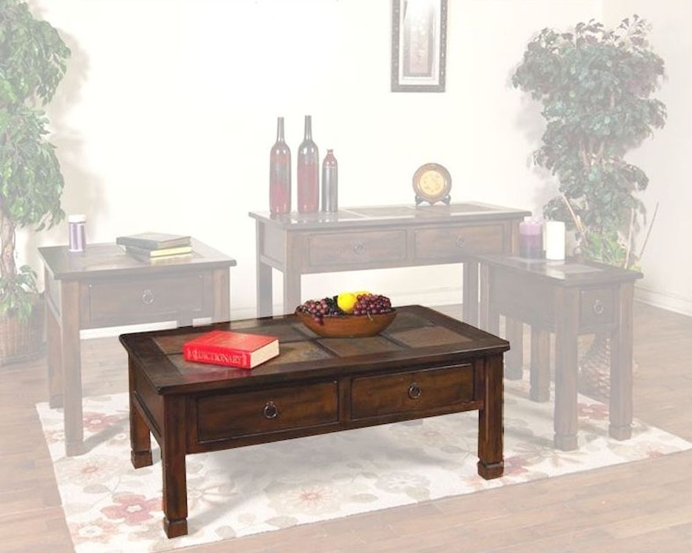 Sunny Designs Santa Fe Coffee Table With Slate Top Su 3143dc Intended For Santa Fe Coffee Tables (View 11 of 30)