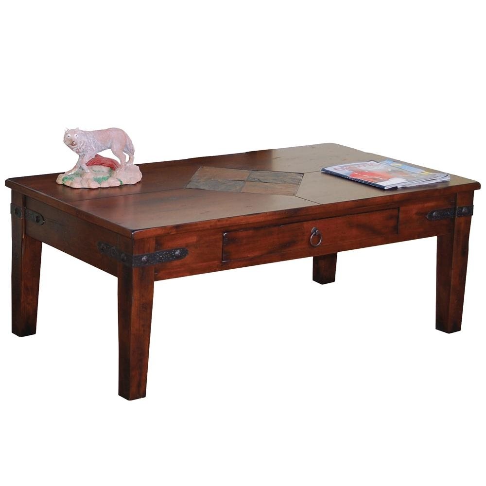 Sunny Designs Santa Fe Traditional 1 Drawer Coffee Table | Walker's In Santa Fe Coffee Tables (View 27 of 30)