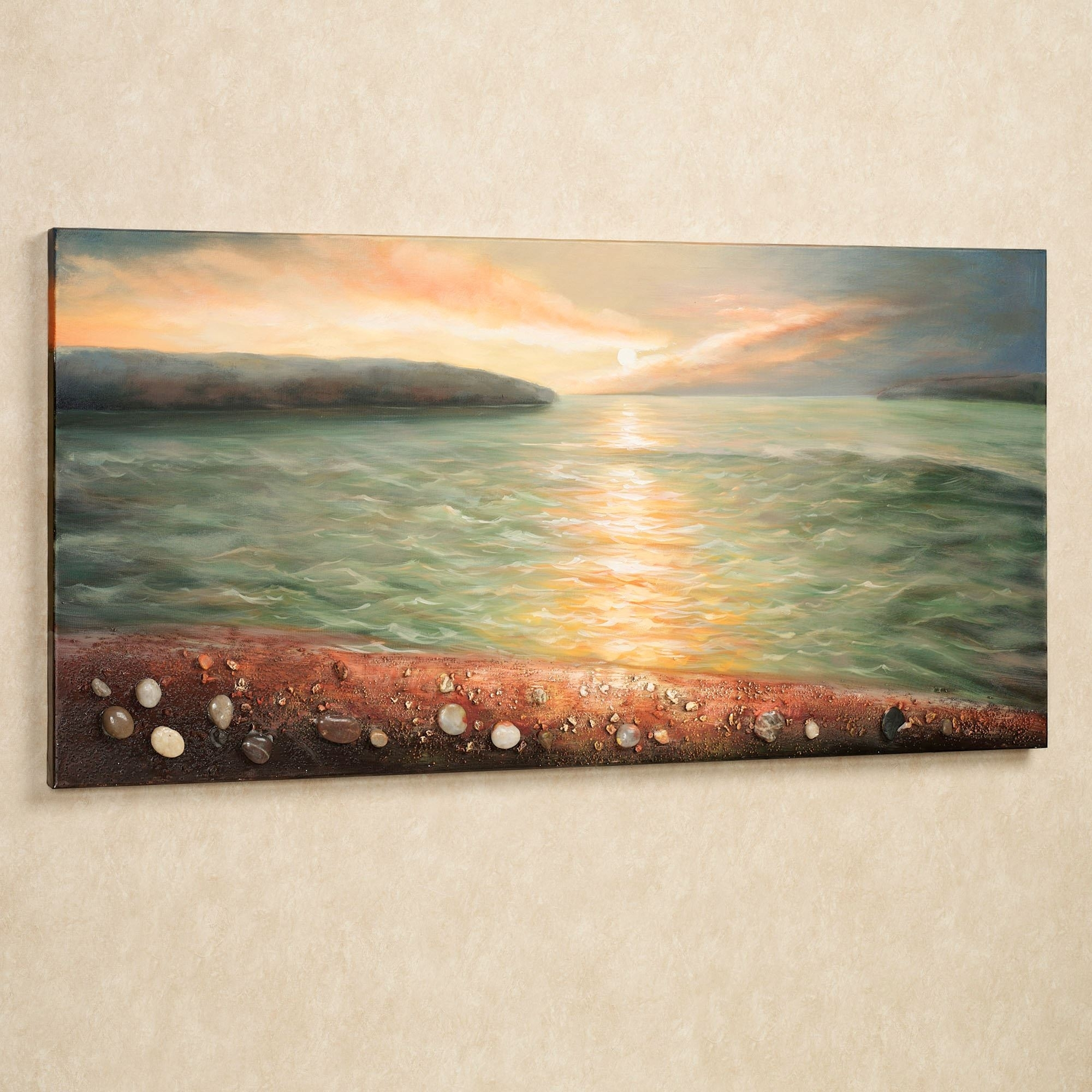 Sunrise On Pebble Beach Canvas Wall Art Intended For Cheap Canvas Wall Art (View 16 of 20)