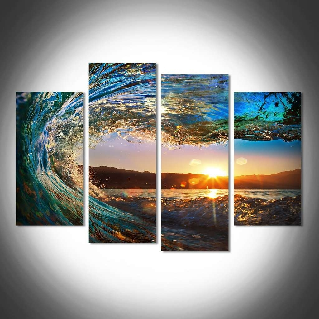 Sunrise & Sunset Wall Art Multi Panel Canvas | Mighty Paintings regarding Multi Panel Wall Art (Image 17 of 20)