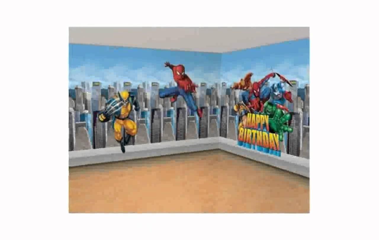 Super Hero Wall Decals [Lilolarada] – Youtube Within Superhero Wall Art (View 13 of 20)