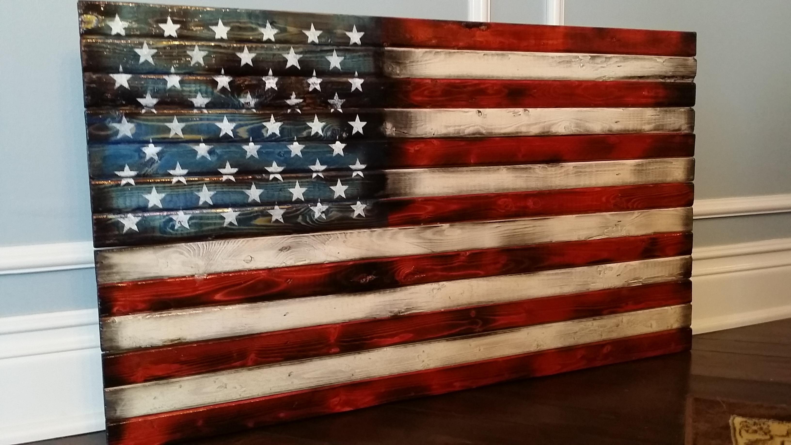 Super Idea Wood American Flag Wall Art Decoration Ideas Handmade In regarding Vintage American Flag Wall Art (Image 14 of 20)