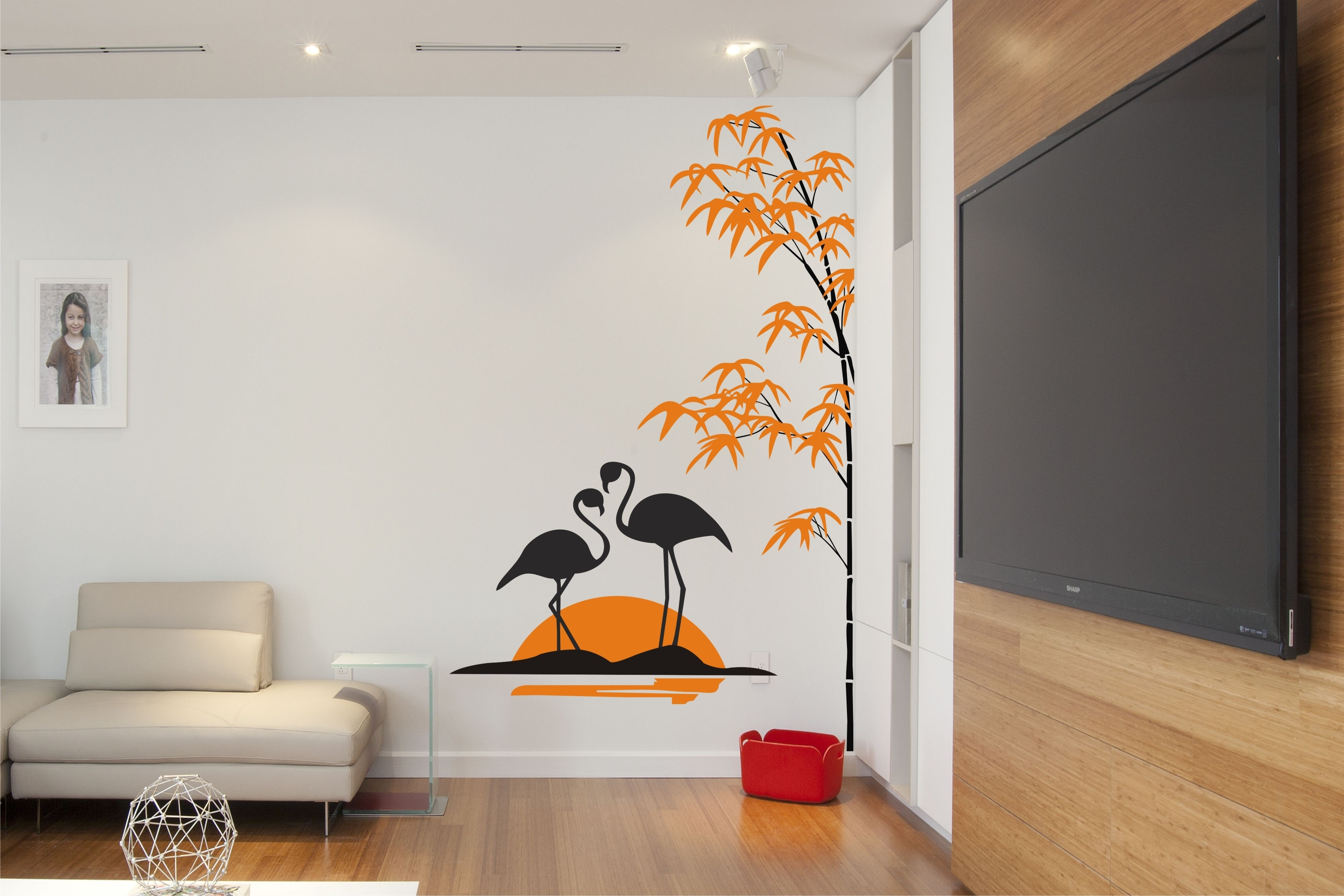 Swan With Bamboo Tree | Buy Customized Gift Solution At Artzolo With Regard To Bamboo Wall Art (View 9 of 20)