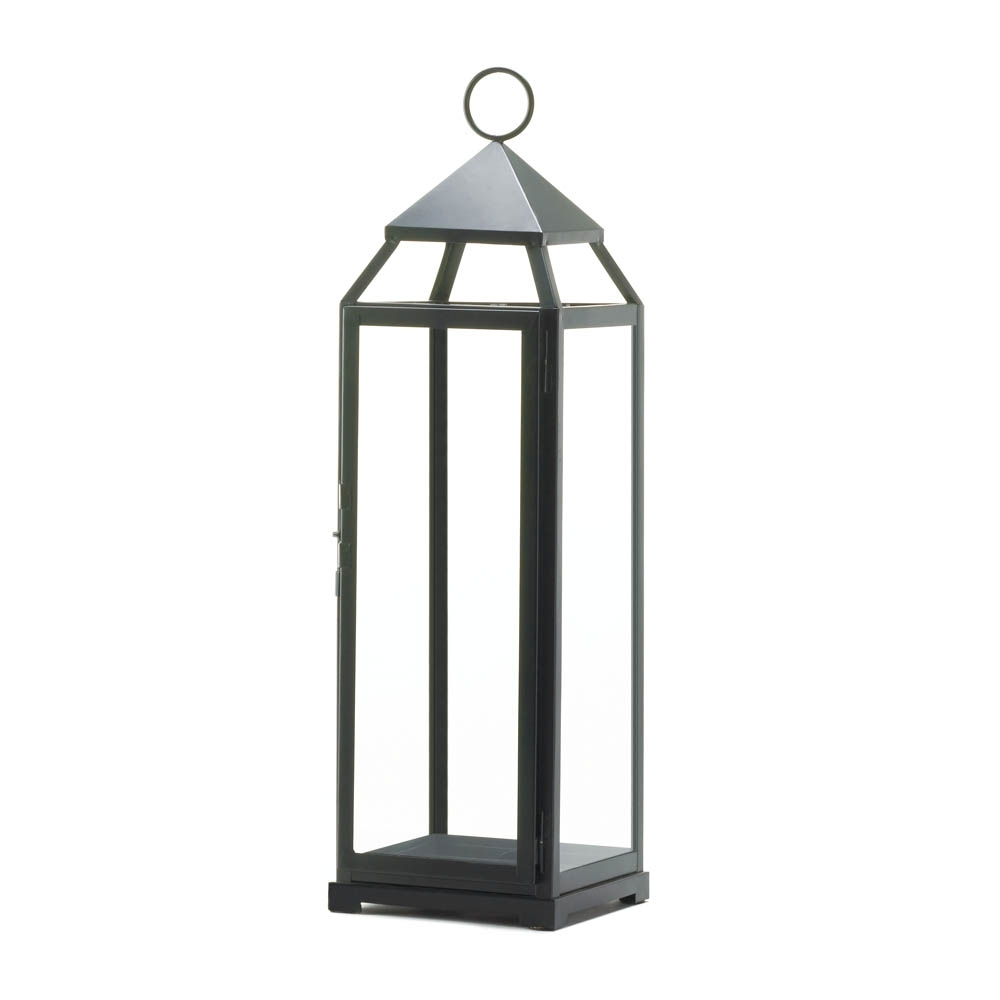 Tall Black Contemporary Lantern Wholesale At Eastwind Wholesale Gift with regard to Outdoor Oversized Lanterns (Image 17 of 20)