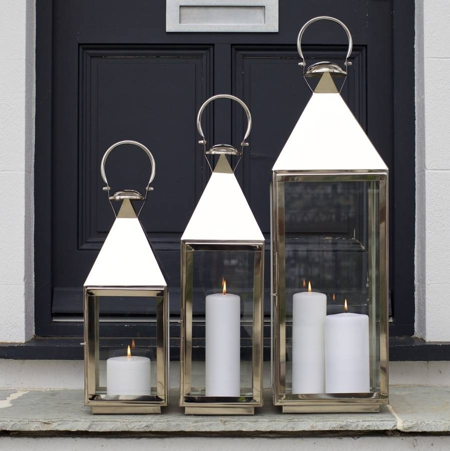 Tall Stainless Steel Garden Candle Lanternza Za Homes For Outdoor Tea Light Lanterns (View 5 of 20)