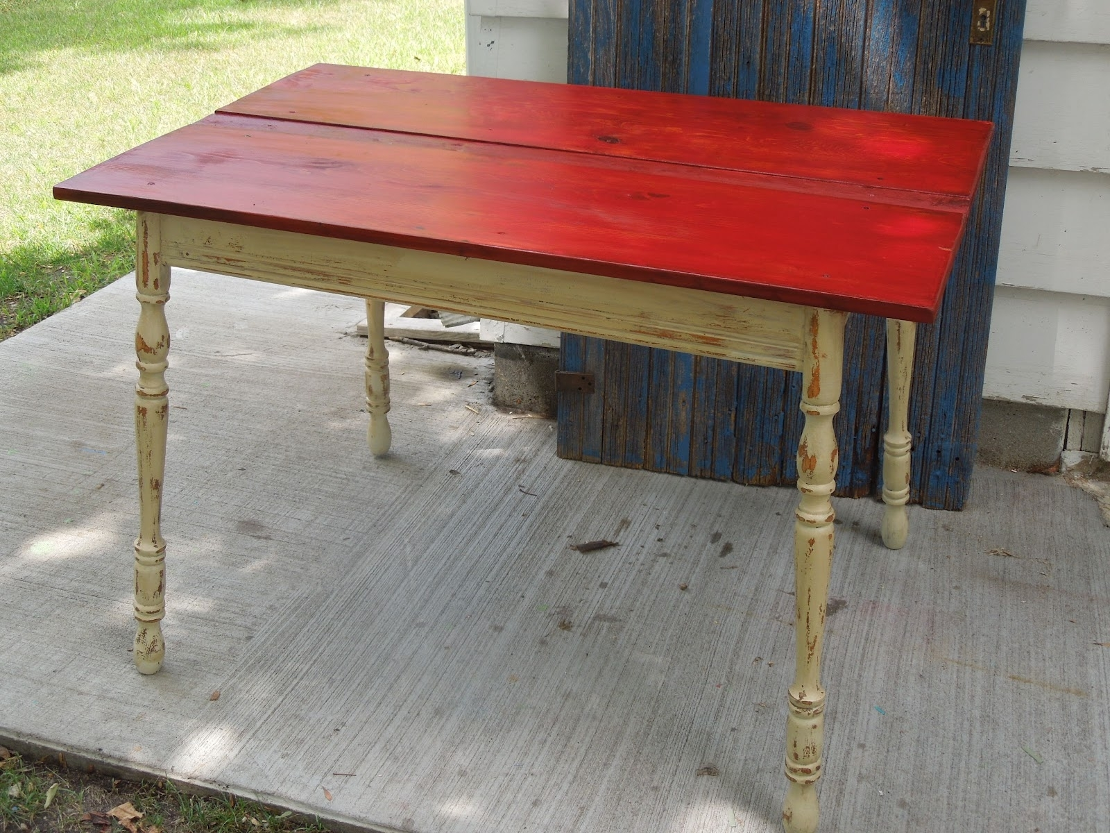 Tattered Lantern: Red Top Kitchen Table $ (View 19 of 20)