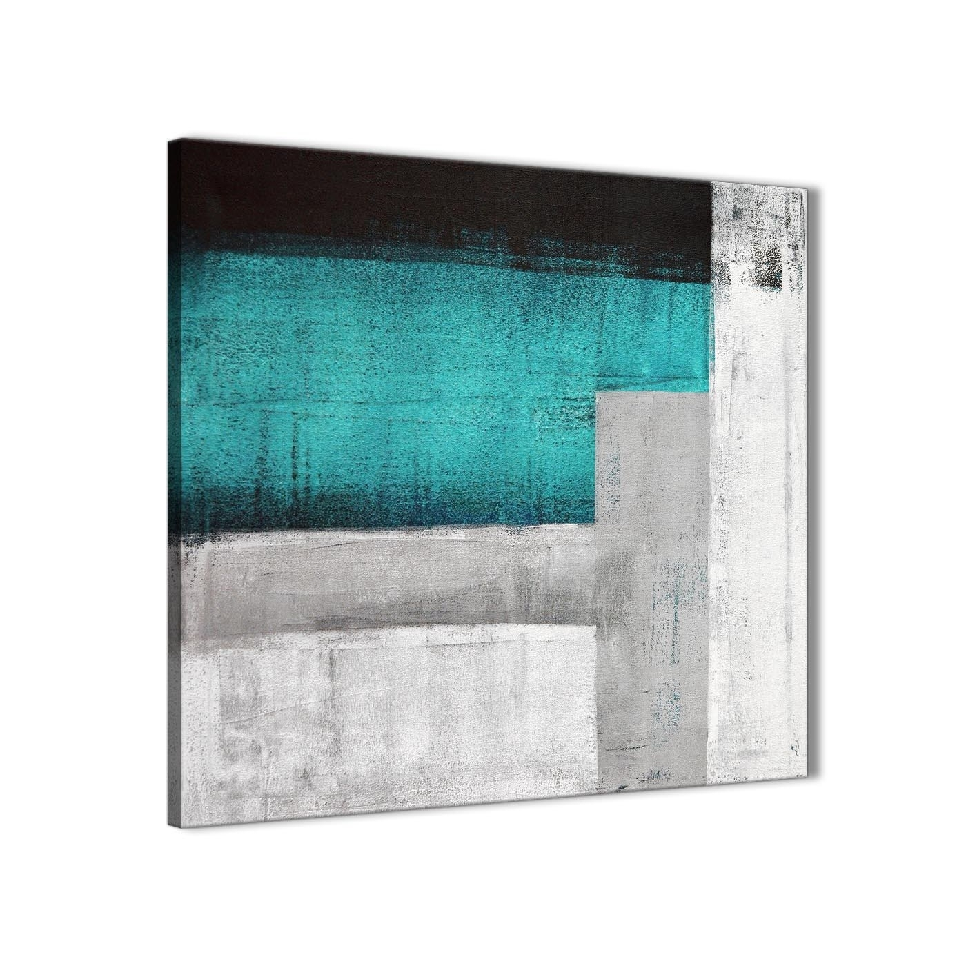 Teal Turquoise Grey Painting Bathroom Canvas Wall Art Accessories with regard to Teal Wall Art (Image 17 of 20)