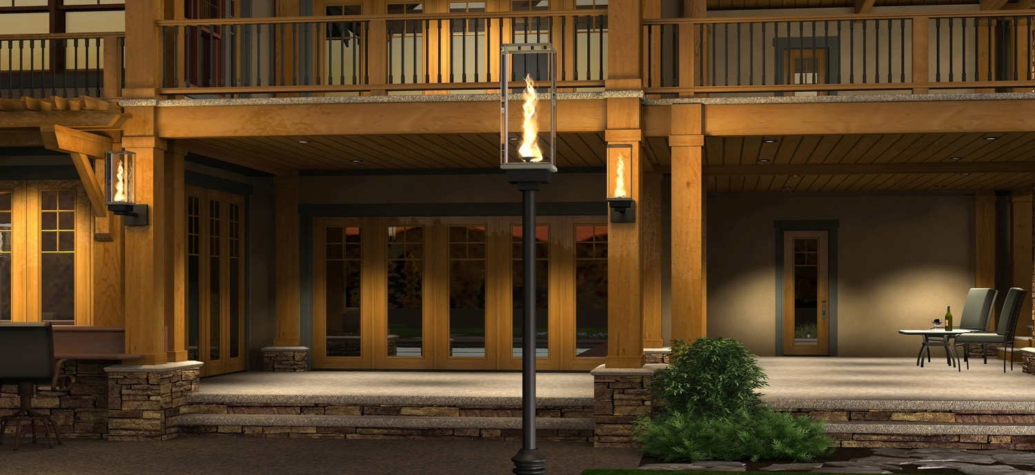Tempest Torch – Outdoor Gas Lamps And Lighting Regarding Outdoor Gas Lanterns (Photo 3 of 20)