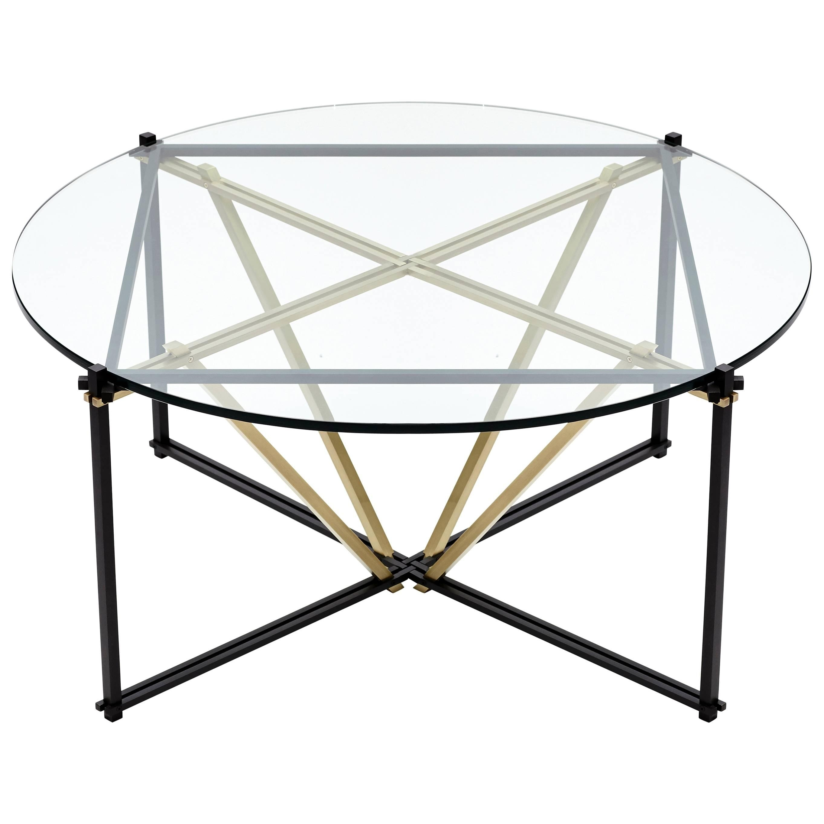 Tensegrity Oval Coffee Table In Customizable Glass Top And Metallic with regard to Intertwine Triangle Marble Coffee Tables (Image 24 of 30)