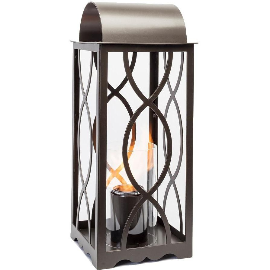 Terra Flame Georgian 20-Inch Gel Lantern - Classic Bronze : Ultimate throughout Outdoor Gel Lanterns (Image 16 of 20)