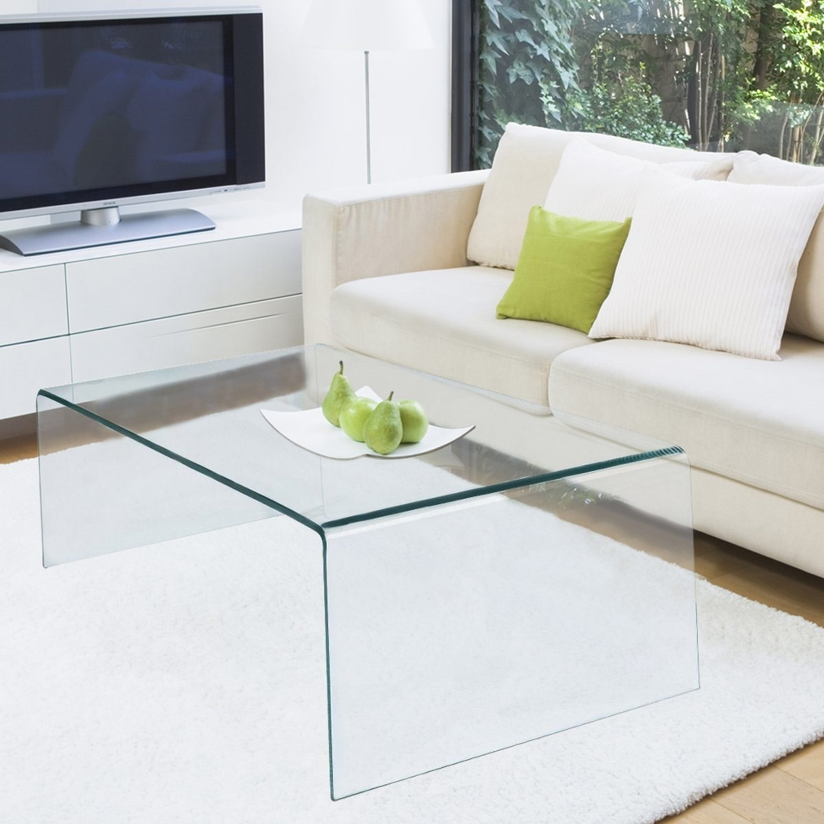 The Best Glass Coffee Tables Under $200 pertaining to Contemporary Curves Coffee Tables (Image 27 of 30)