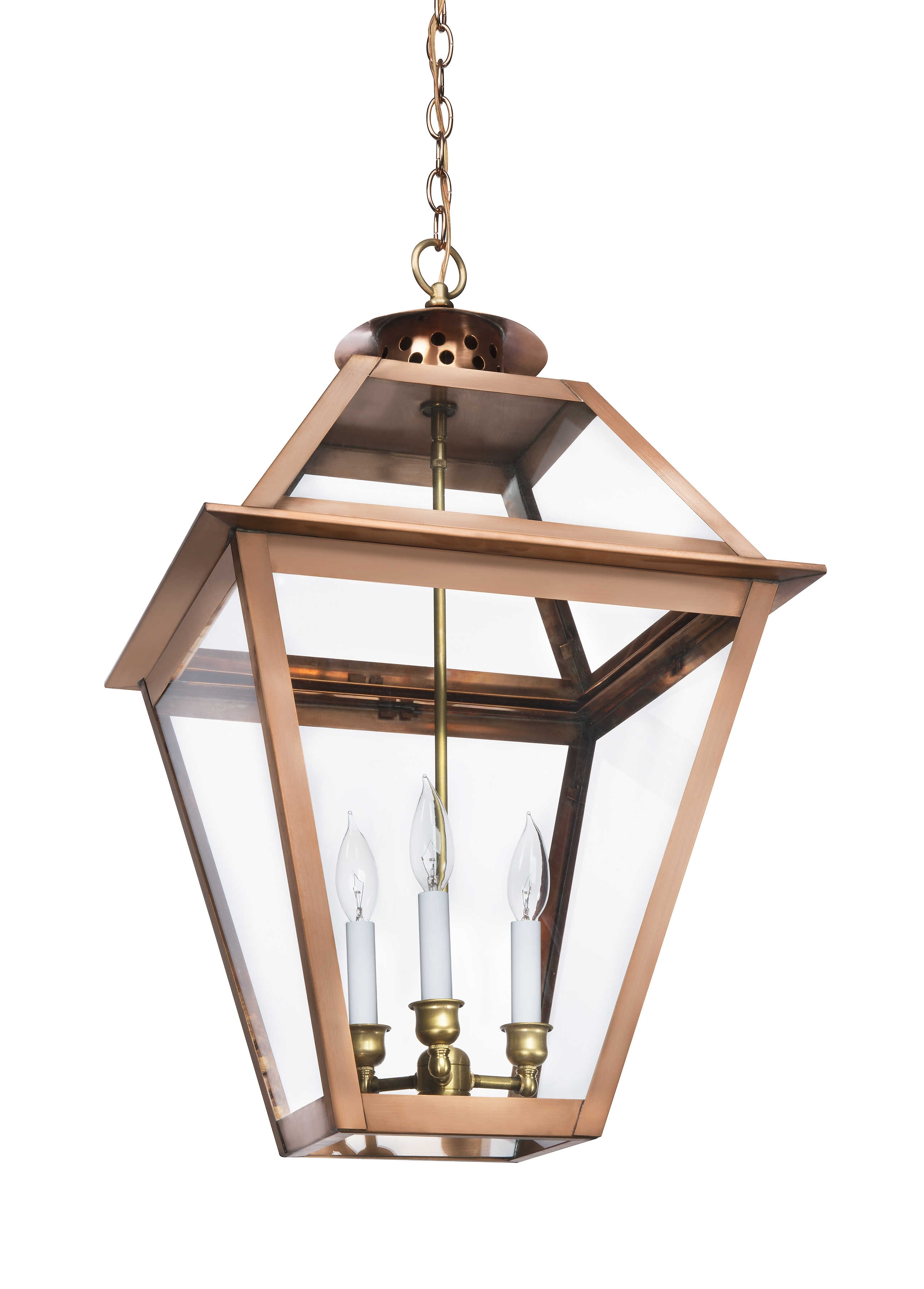 The Charleston Collection | Ch-41 Hanging Light – Lantern & Scroll with Copper Outdoor Electric Lanterns (Image 17 of 20)