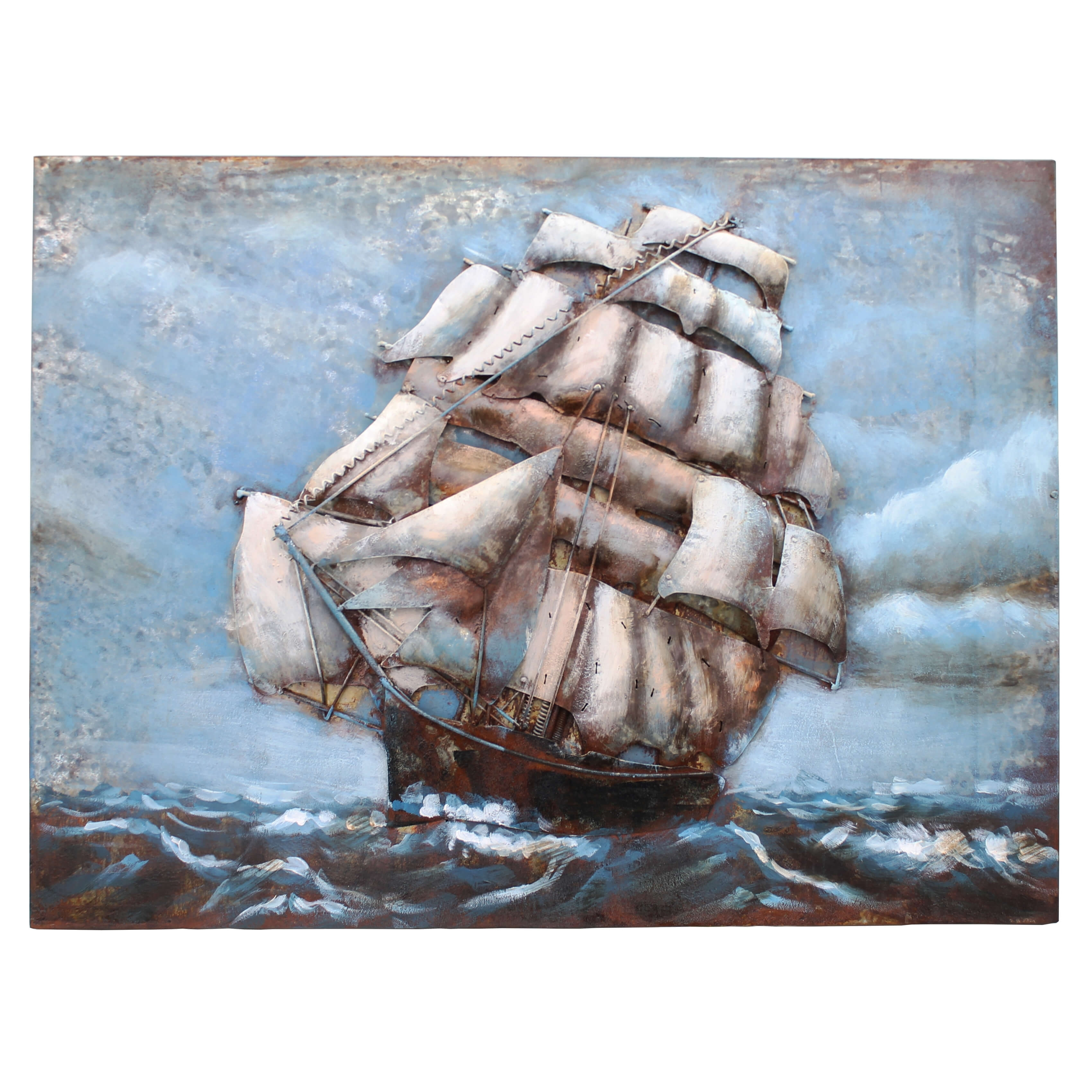 The Cutty Sark 3D Metal Wall Art – Aves Unique intended for 3D Metal Wall Art (Image 17 of 20)