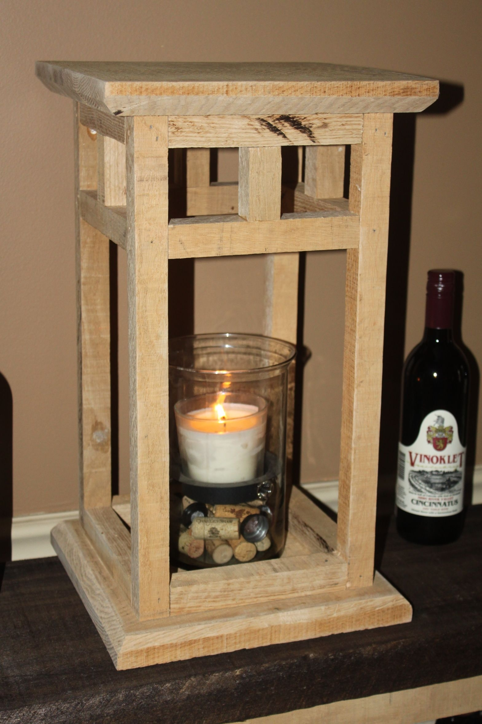 The Diy Rustic Wood Lantern Project – Made From Pallets! | Our Diy Intended For Outdoor Oversized Lanterns (View 14 of 20)