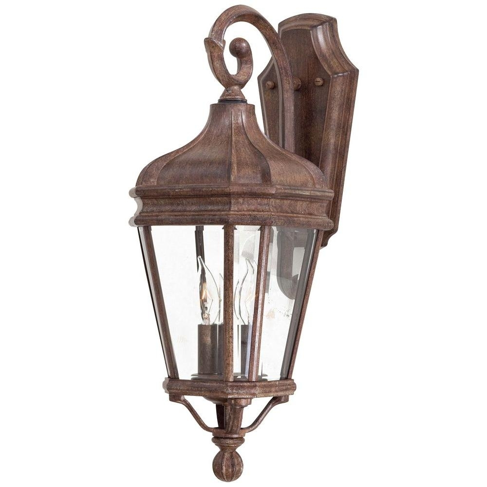 The Great Outdoorsminka Lavery Harrison 2-Light Vintage Rust pertaining to Outdoor Vintage Lanterns (Image 17 of 20)