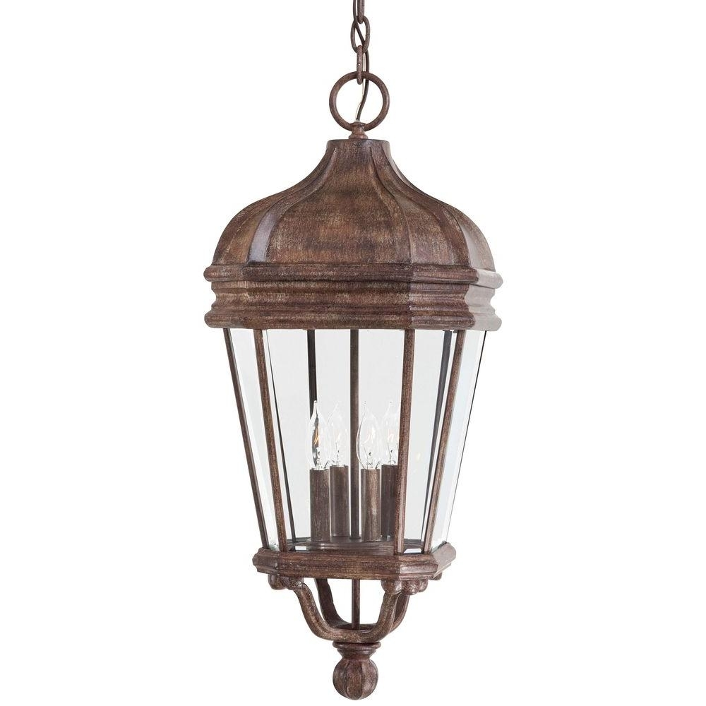 The Great Outdoorsminka Lavery Harrison Vintage Rust 4-Light intended for Indoor Outdoor Lanterns (Image 19 of 20)