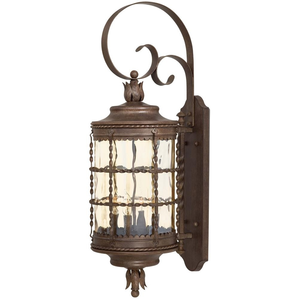 The Great Outdoorsminka Lavery Mallorca 4 Light Vintage Rust With Vintage Outdoor Lanterns (View 3 of 20)