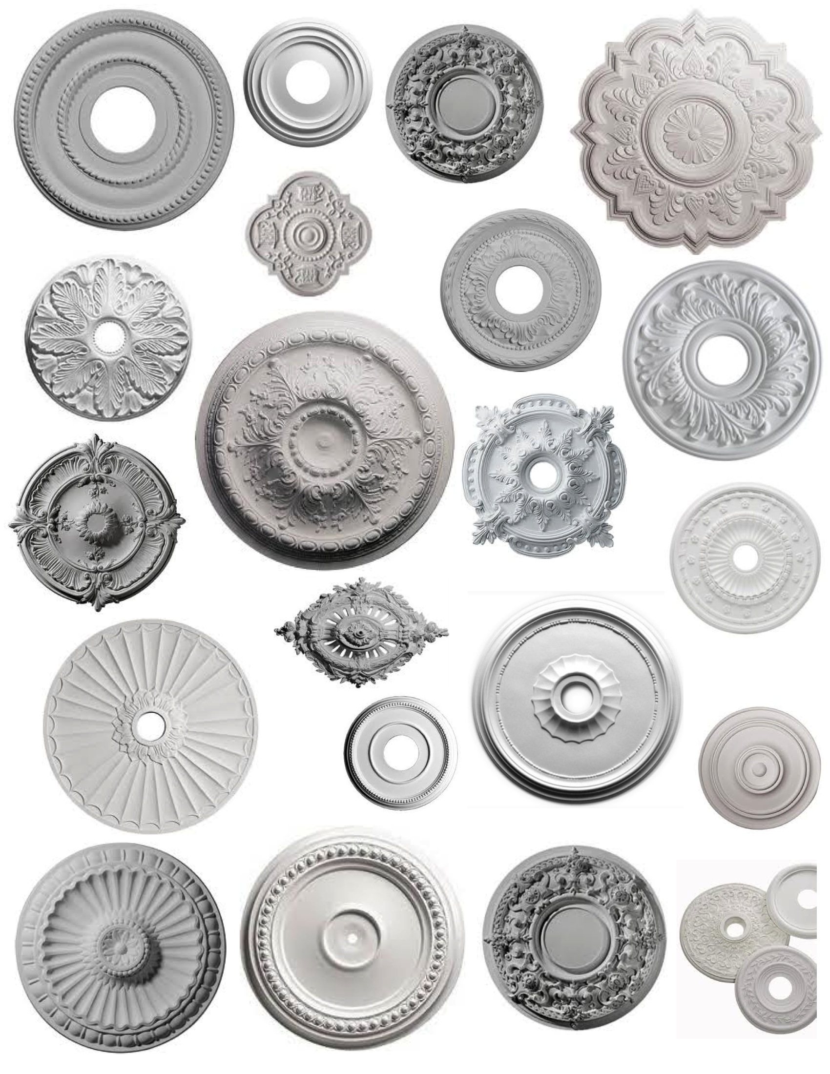The Icing On The Ceiling: The Ceiling Medallion | House Appeal throughout Ceiling Medallion Wall Art (Image 17 of 20)
