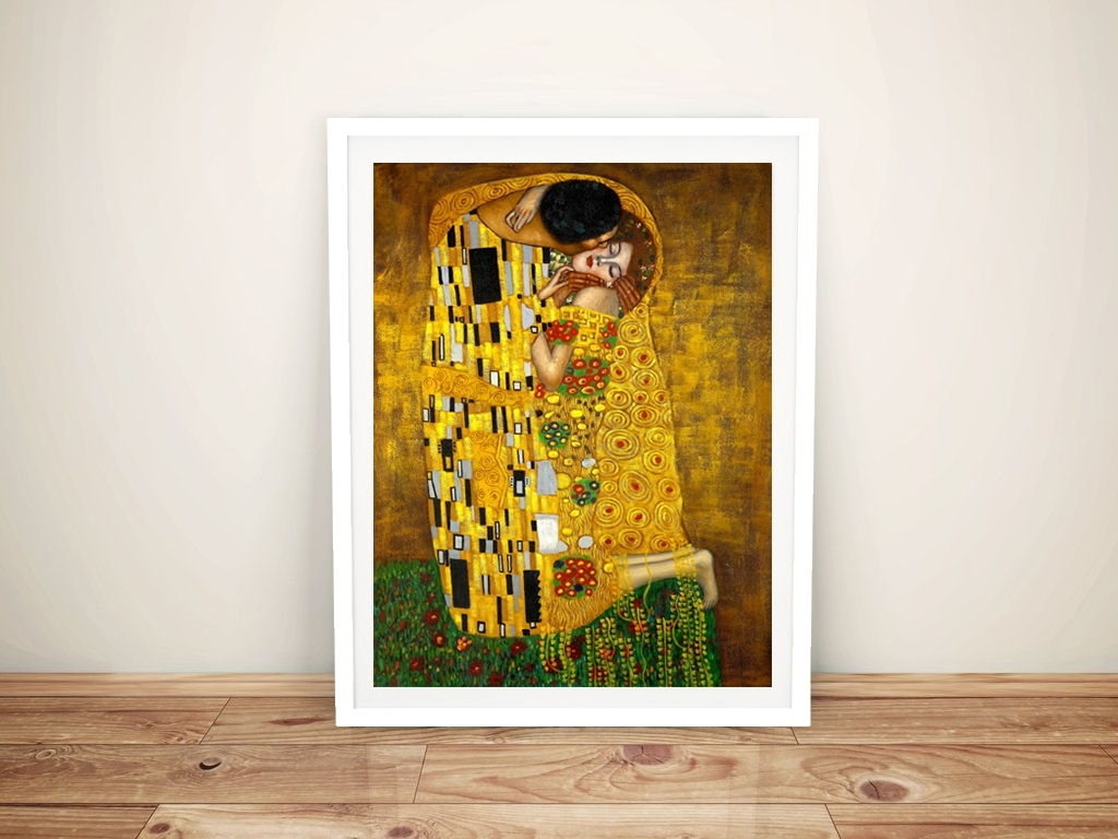 The Kissgustav Klimt Canvas Print | Cheap Wall Art Australia throughout Cheap Wall Art (Image 19 of 20)