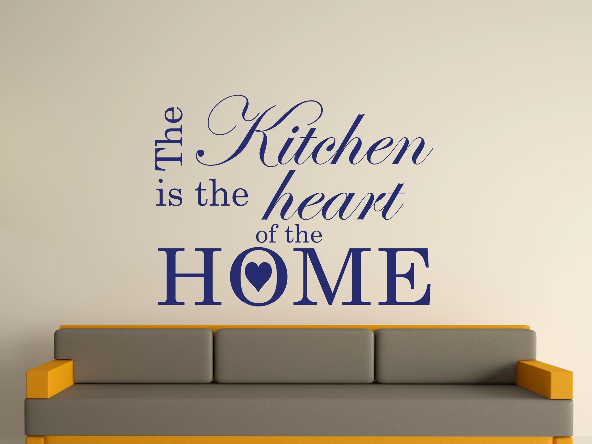 The Kitchen Is The Heart Of The Home Wall Art Sticker Text 3 Sizes With Wall Art Stickers (View 5 of 20)