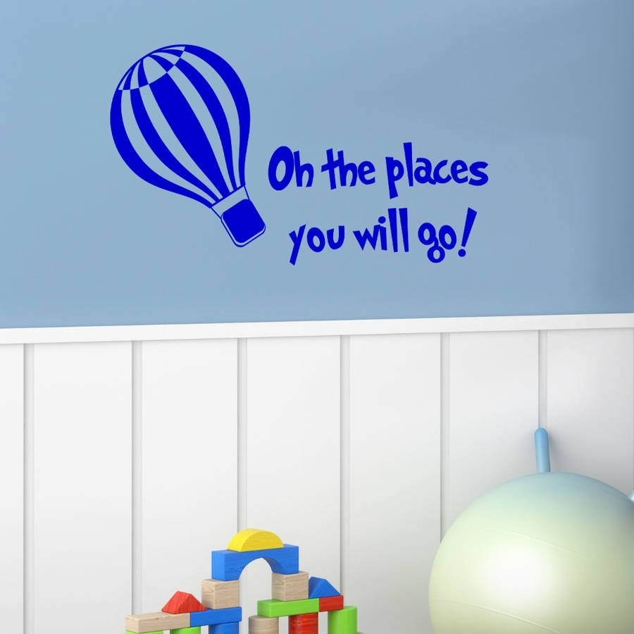 The More You Read Dr Seuss Wall Stickerwall Art Quotes & Designs With Dr Seuss Wall Art (View 4 of 20)