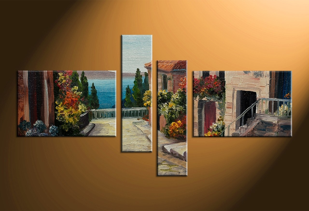 The Multi Panel Canvas Wall Art Multi Canvas Wall Art Forest regarding Multi Piece Wall Art (Image 18 of 20)