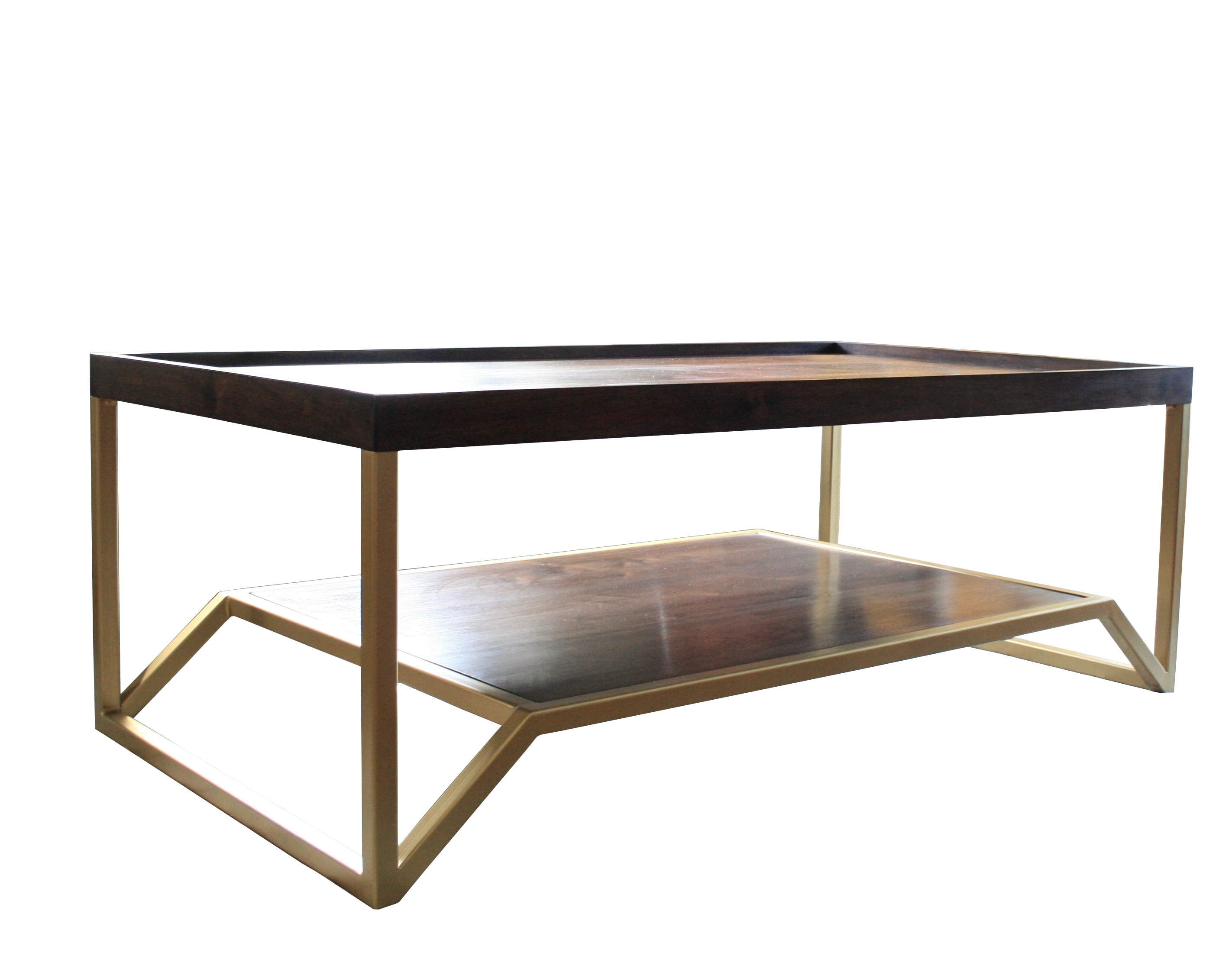 The Onzaga | Mid Century Modern Coffee Table | Doorman Designs in Rectangular Brass Finish And Glass Coffee Tables (Image 24 of 30)
