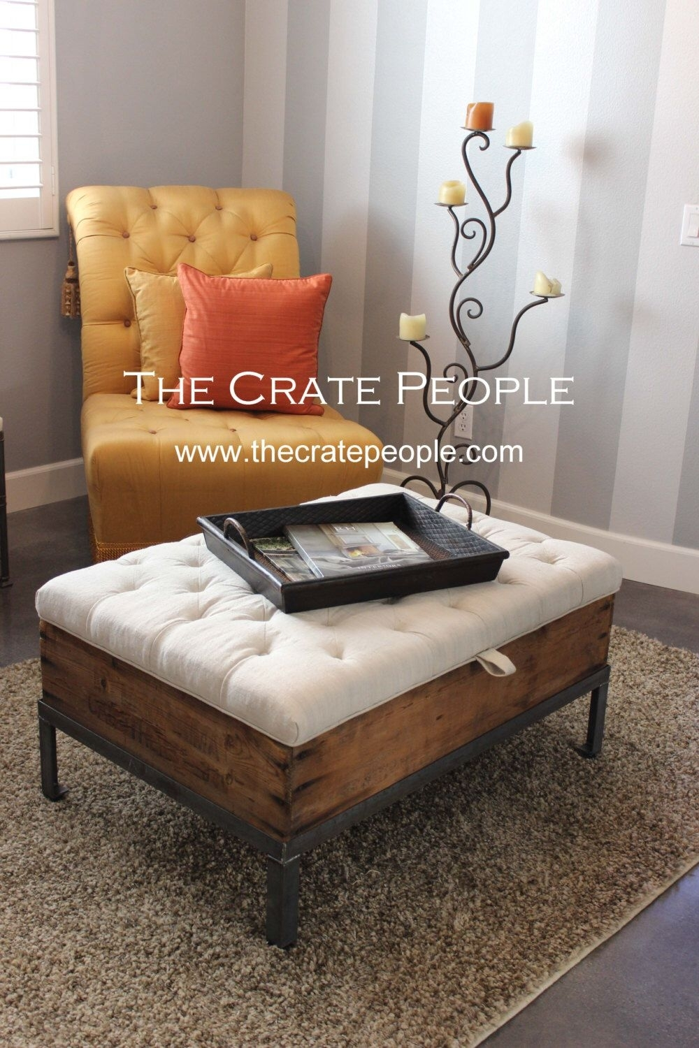 The Raisin Box Bench Coffee Table With Storage | Tufted Lift Top inside Button Tufted Coffee Tables (Image 26 of 30)