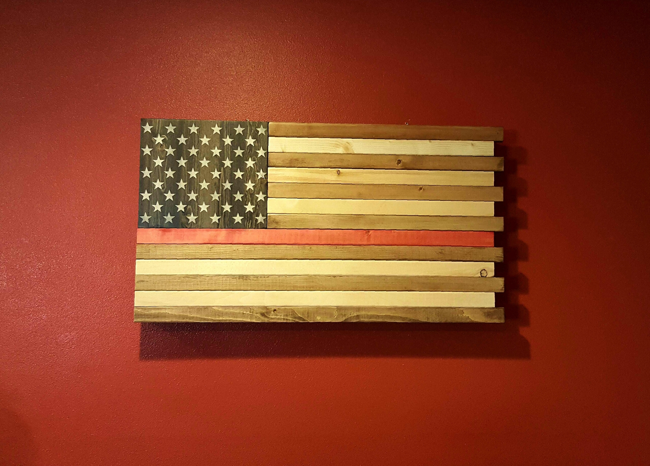 The Thin Red Line Rustic American Flag Wall Art Throughout Rustic American Flag Wall Art (View 8 of 20)