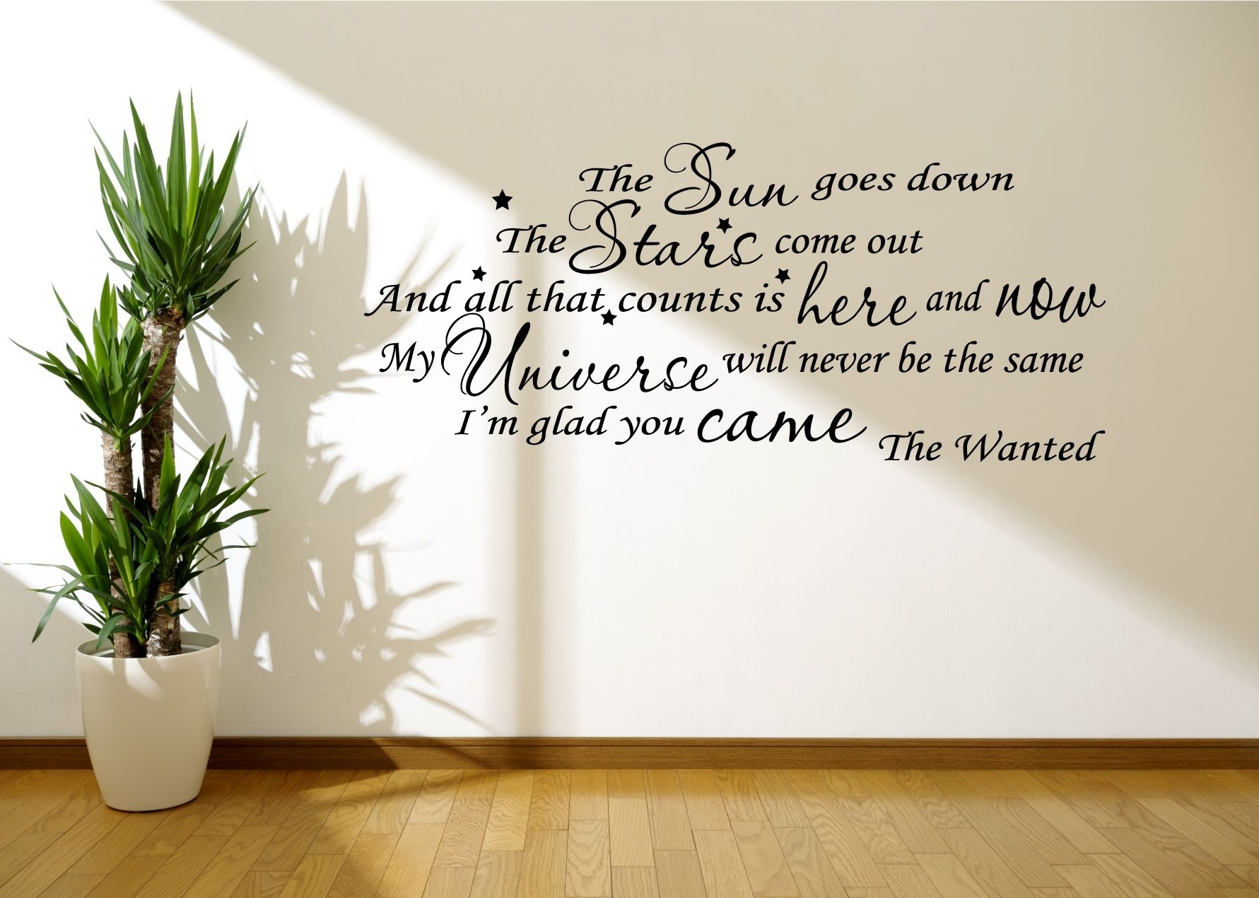 Popular Photo of Song Lyric Wall Art